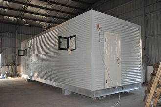 China Steel Frame Prefab Modular Homes , Mobile Guard House For People Living supplier
