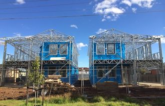 China Light Steel Frame Prefab Villa / Quick Assemble Prefab Homes / Lignt Steel Frame Villa supplier