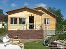 China Steel Structure Modern Wooden Log Houses , High Insulation Prefabricated Bungalow Homes factory